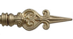 Wrought iron curtain poles - Bishop Arrow